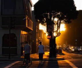 Walking into the sunset ... and, literally, from the Inner Sunset neighborhood into the Sunset neighborhood
