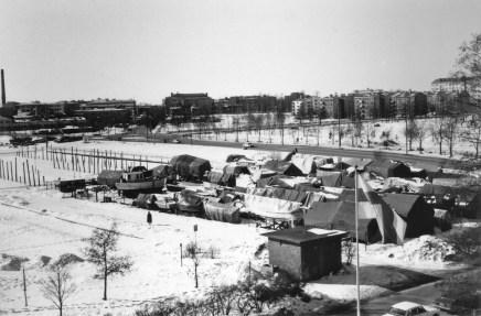 Smedjeviken - båtupptagning hösten 1980 (BW SMK)
