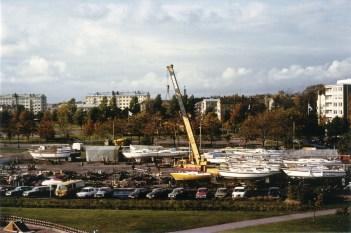 Smedjeviken båtupptagning hösten 1980 (BW SMK)
