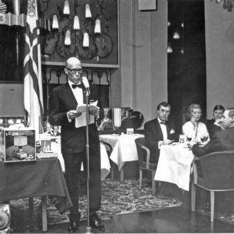 Vuosikokous 1960 Torsten Hjort esittää historiikin (SMK)