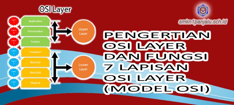 PENGERTIAN OSI LAYER DAN FUNGSI 7 LAPISAN OSI LAYER (MODEL OSI) TEKNOLOGI LAYANAN JARINGAN