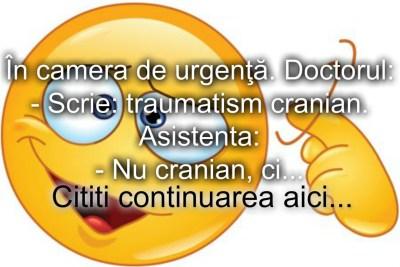 Bancul zilei :) In camera de urgenta…