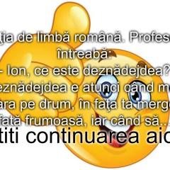 Bancul zilei :) Lectia de limba romana…