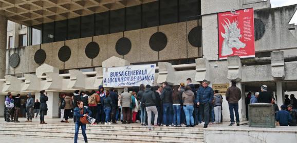 AJOFM Satu Mare a organizat azi  Bursa generală a locurilor de muncă