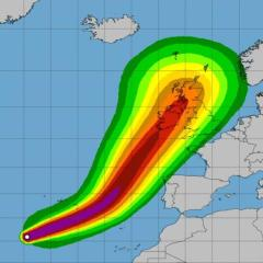 Uraganul Ofelia va lovi Europa