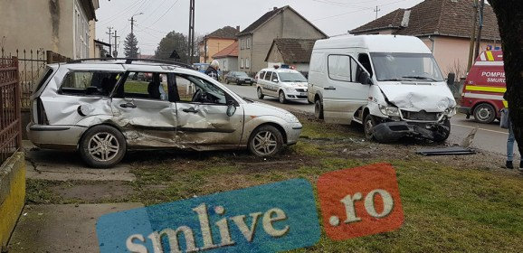 Accident GRAV de circulație produs în această dimineață în localitatea Lazuri. FOTO
