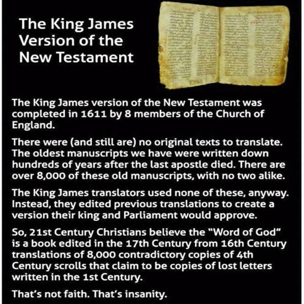 """...and then the uneducated bozos at WT HQ made their NWT version from the King James version and called it ""the most accurate translation""!"