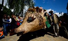 The fifth annual Handmade Parade in Hebden Bridge, West Yorkshire