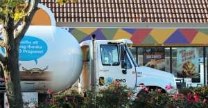 Commercial Propane delivery services truck.