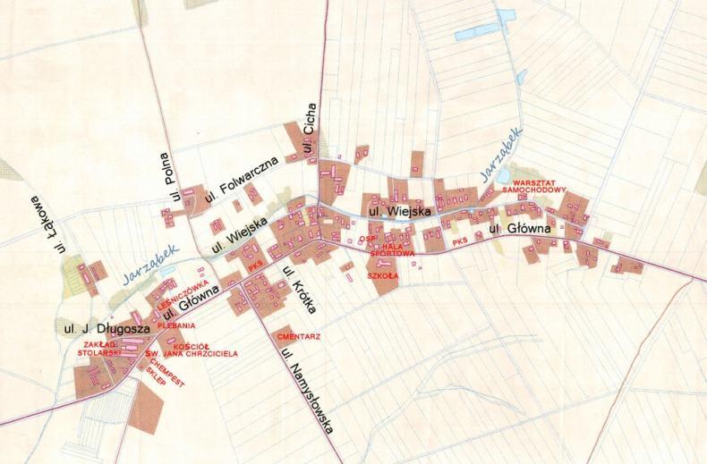 Plan wsi Smogorzów, woj. opolskie