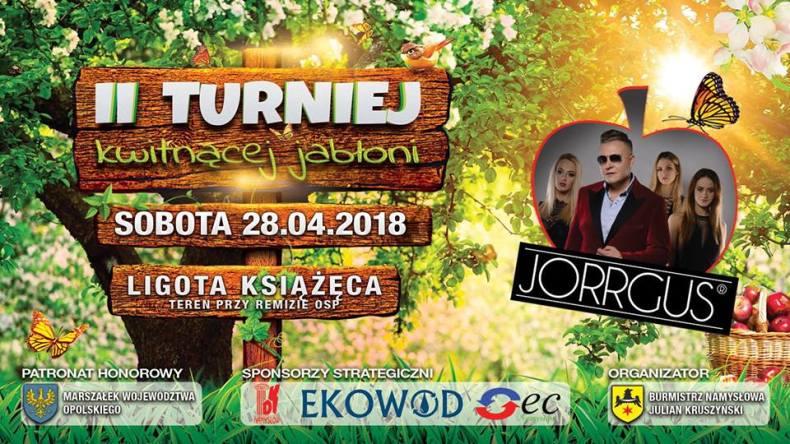 Plakat II Turnieju Kwitnącej Jabłoni wLigocie Książęcej