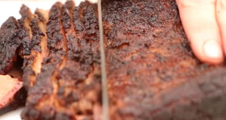 Proper width of brisket slices