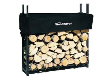 The Woodhaven small outdoor firewood rack
