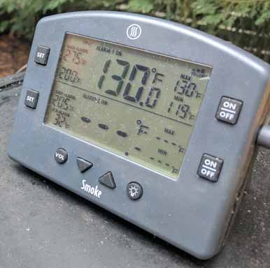 Thermoworks smoke to measure temp on gas grill