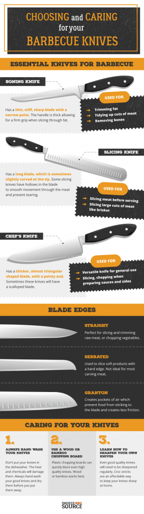essential knives for barbecue