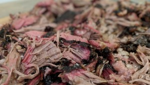 Pulled smoked lamb shoulder