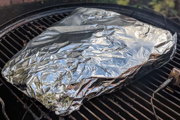 brisket wrapped in foil