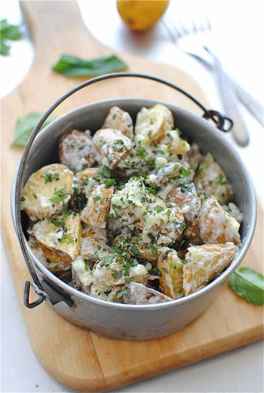 Lemon roasted potato salad