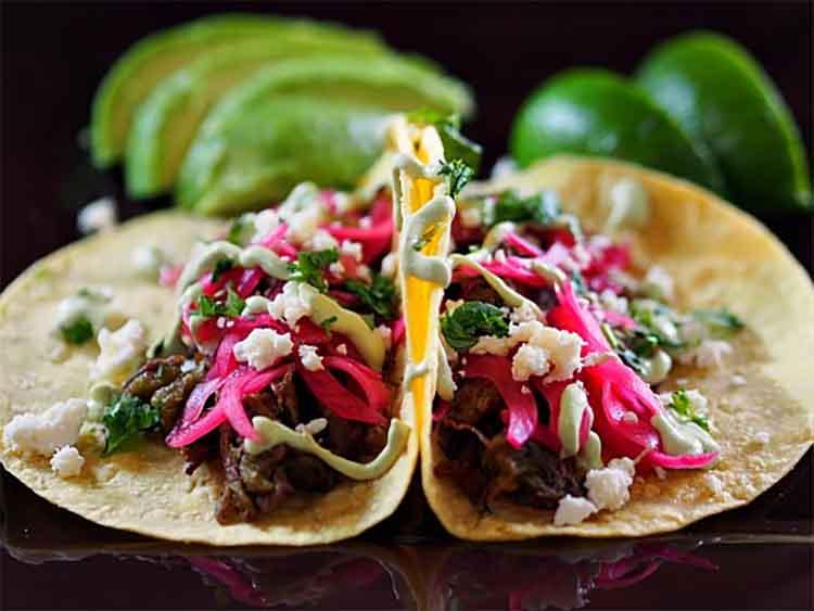 Beef brisket street taco
