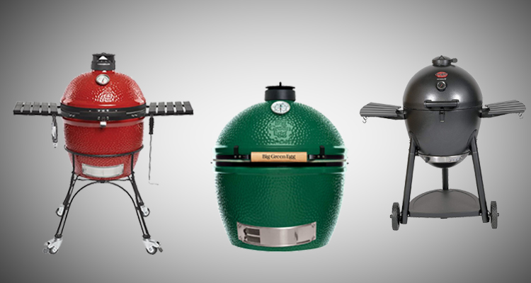 Line up of the best kamado grills