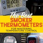 collage of smoker thermometers