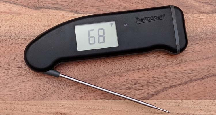 Themapen Mk4 Digital Meat Thermometer on table