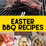 Easter barbecue recipe collage