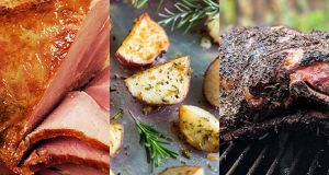 Collage of Easter bbq recipes