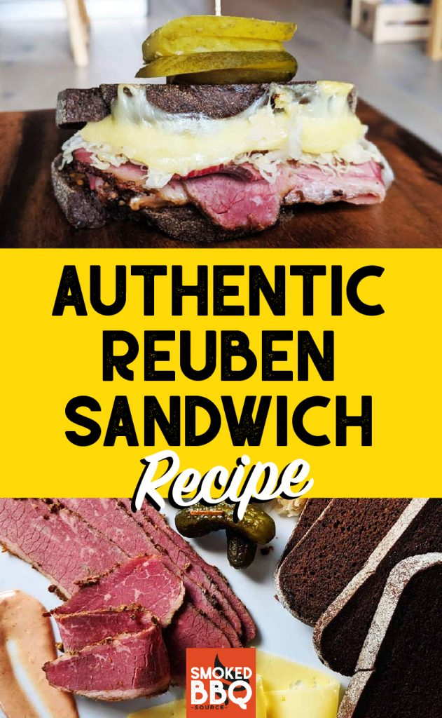 collage of reuben sandwiches and ingredients