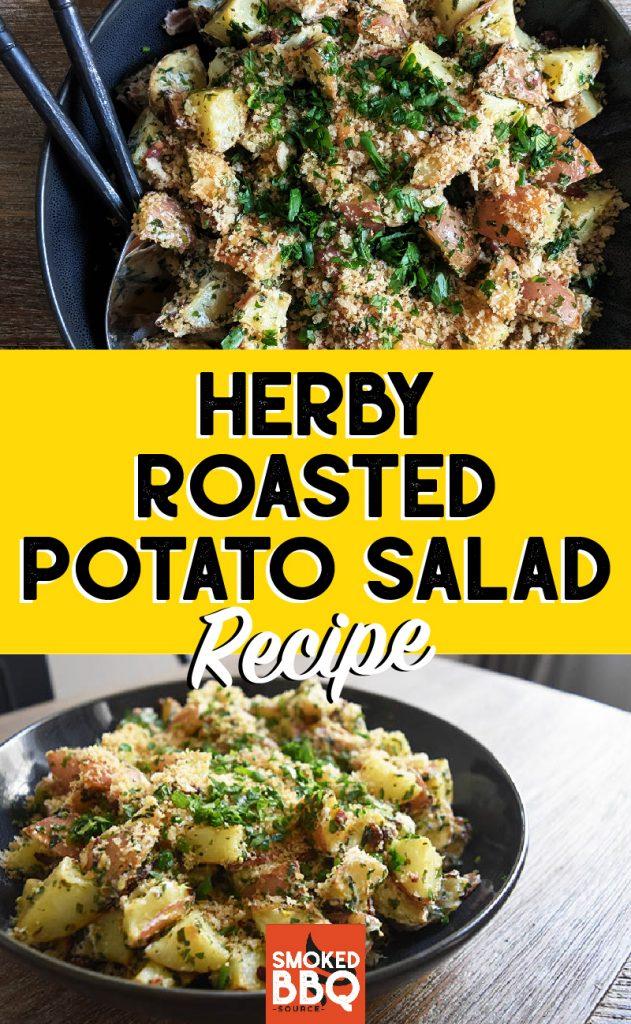 collage of a potato salad