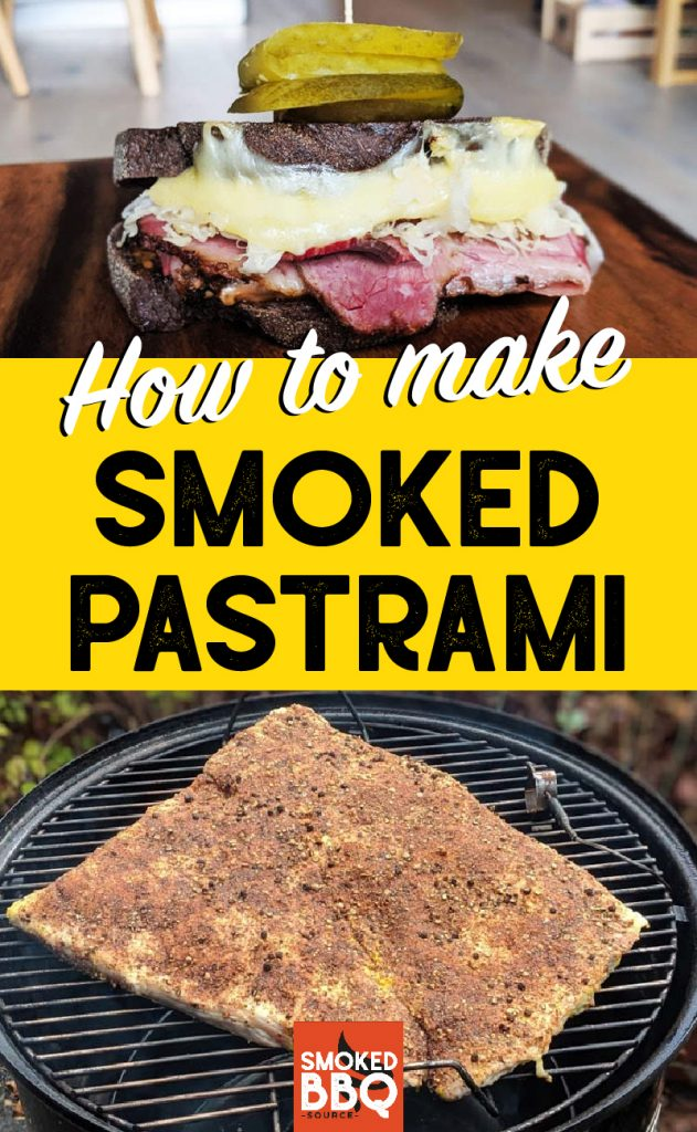 collage of pastrami with text