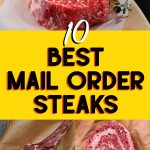 collage of mail order steaks