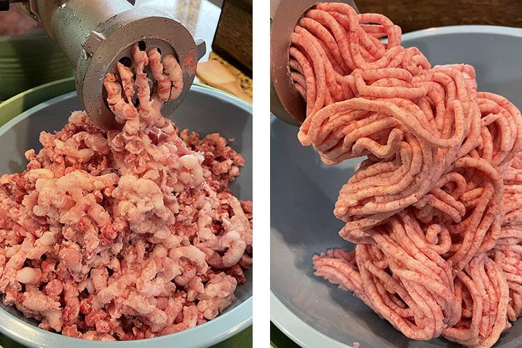 grinding meat with LEM Big Bite Electric Meat Grinder