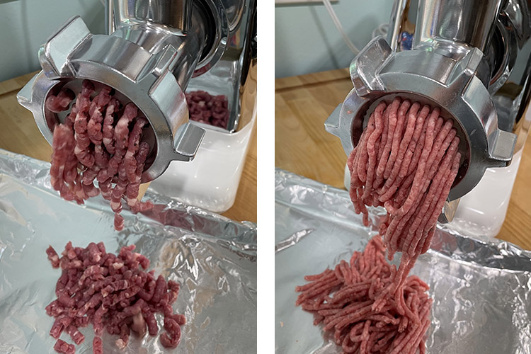 grinding meat with STX-3000 Grinder