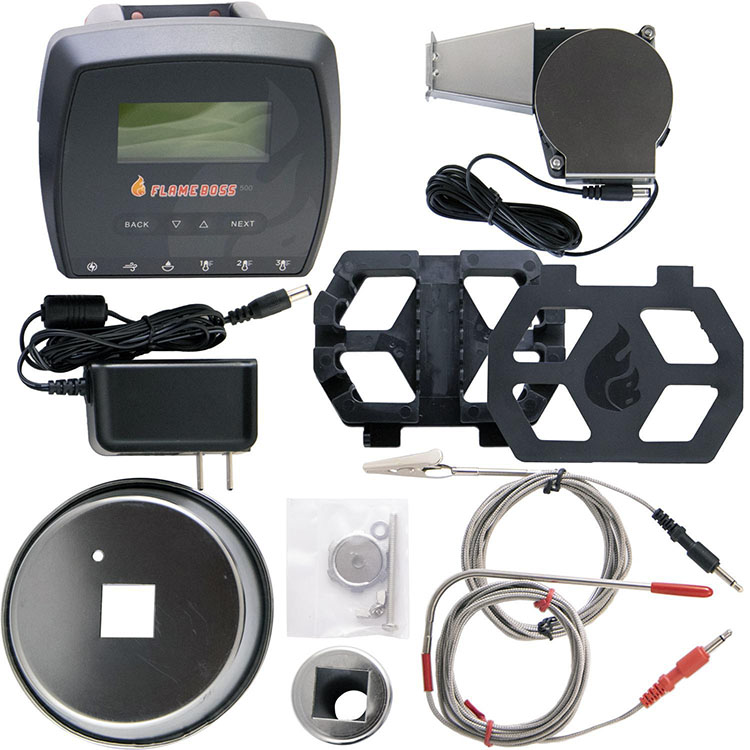 All the parts that are included with flame boss 500 temp controller