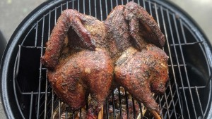 whole turkey on smoker