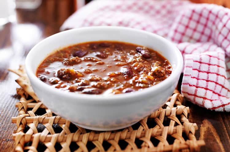 bowl of chili on the table