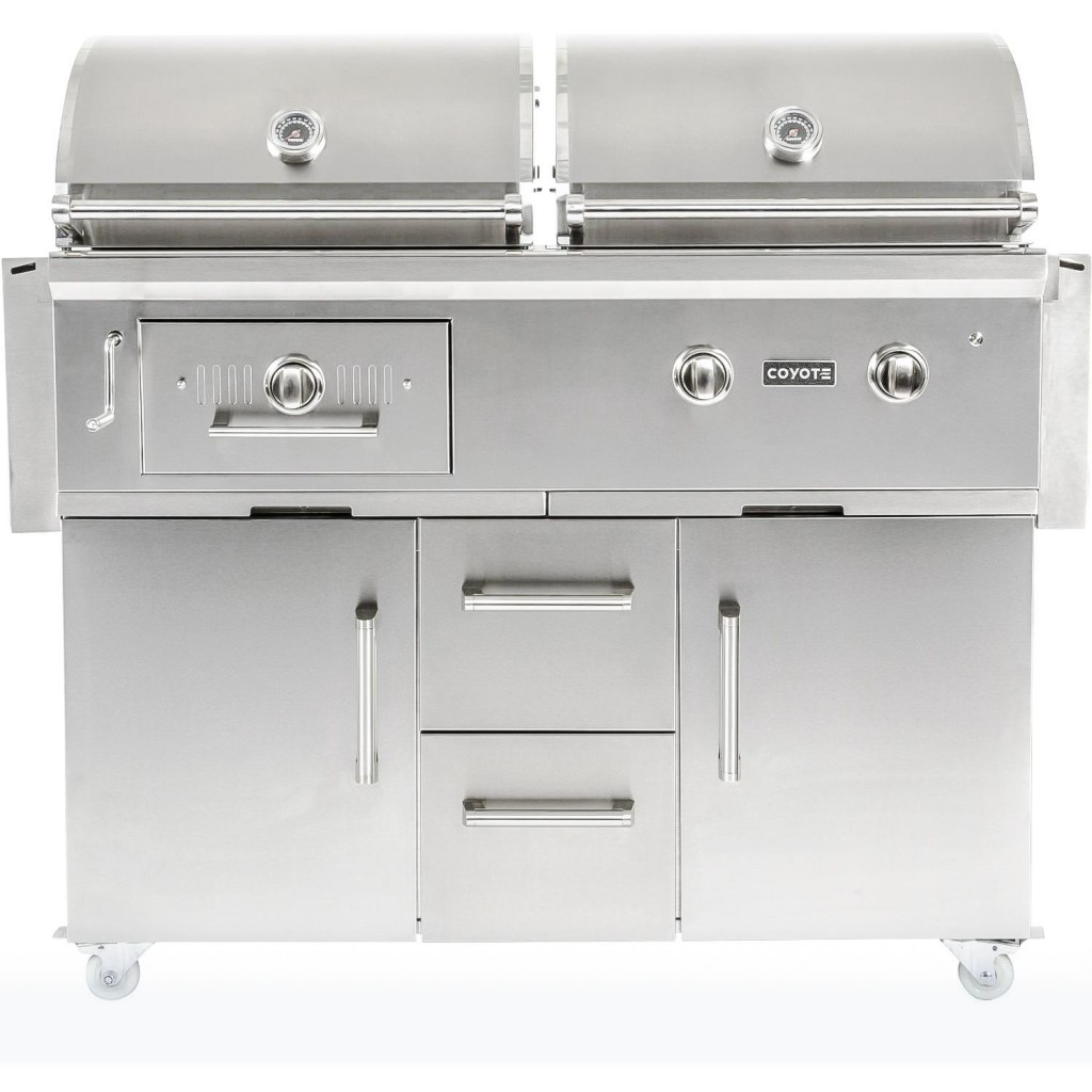 Coyote Centaur 50-Inch Natural Gas/Charcoal Dual Fuel Grill
