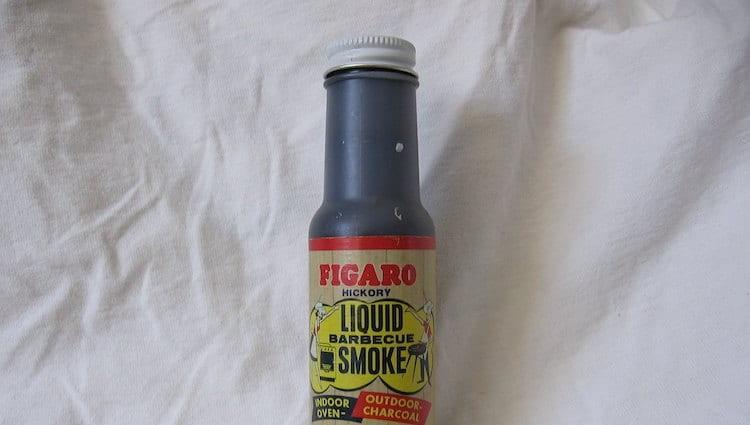 Liquid smoke in a bottle