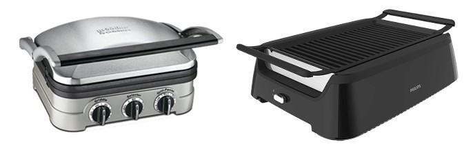 2 indoor grills on a white background