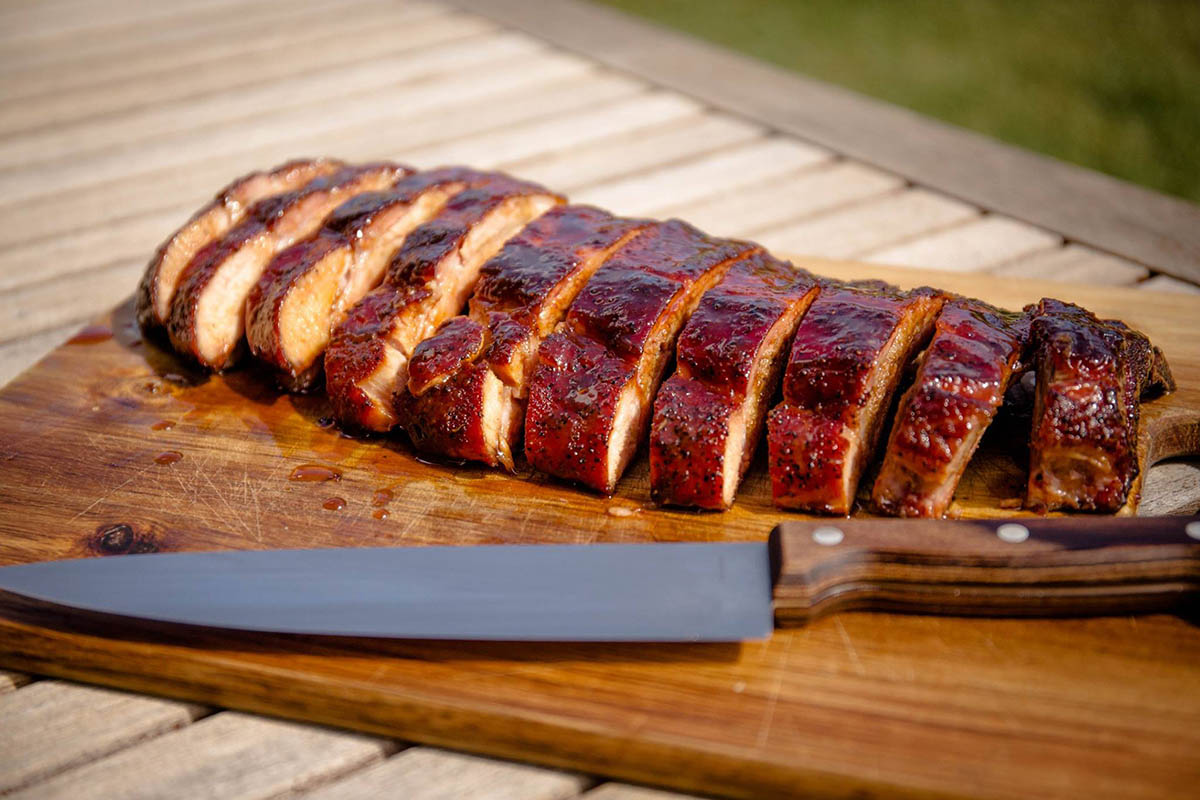 cooked ribs