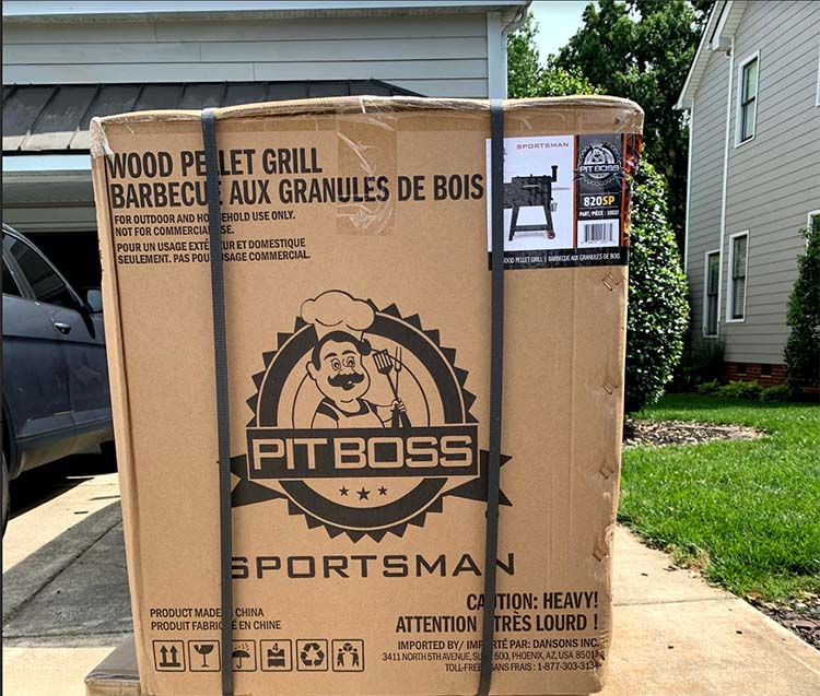 pit boss sportsman in shipping box