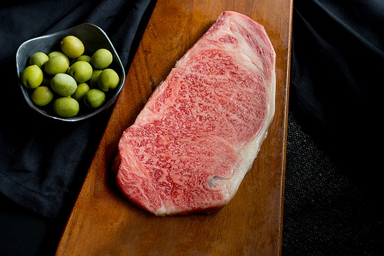 Crowd Cow A5 Olive Wagyu New York Strip Steak
