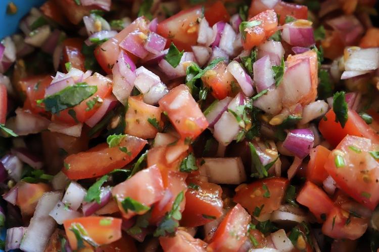 chopped salsa