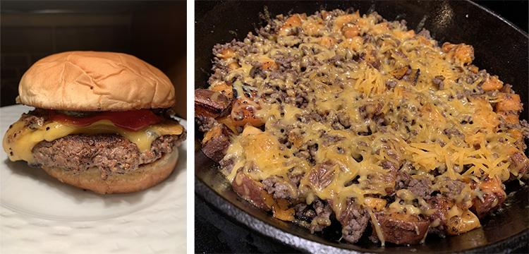 elk burger and elk casserole