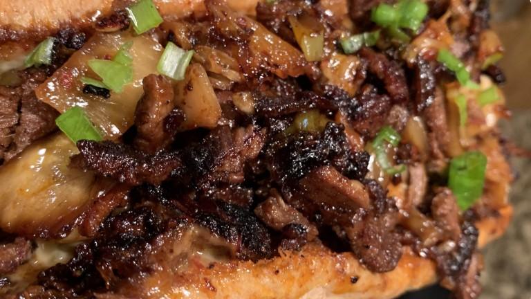 Cheesy Tri-tip Steak Sandwiches