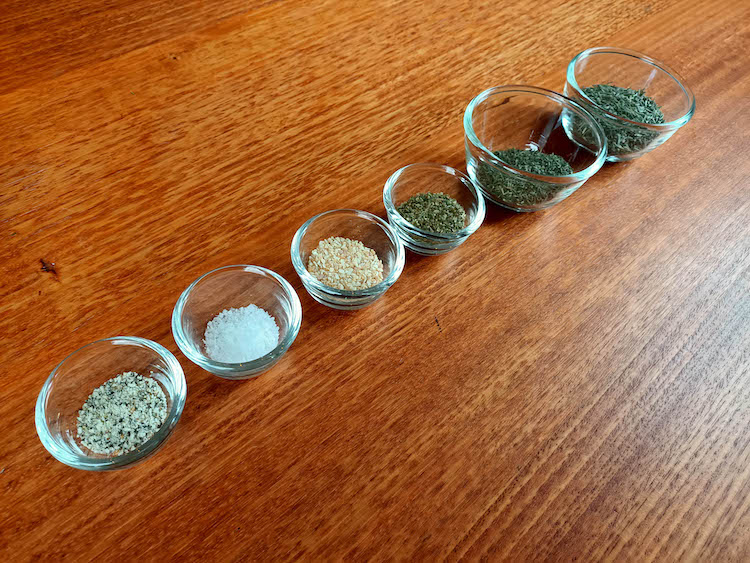 different herbs for the lamb seasoning