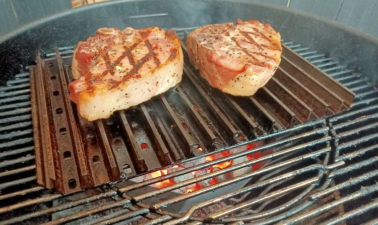 pork chops on the Grill Grates