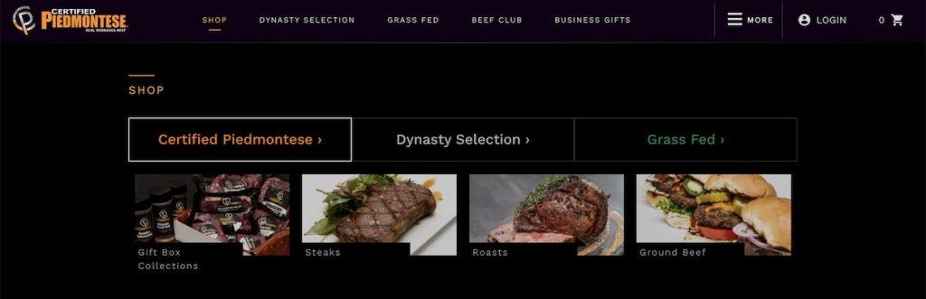 Certified Piedmontese Beef website