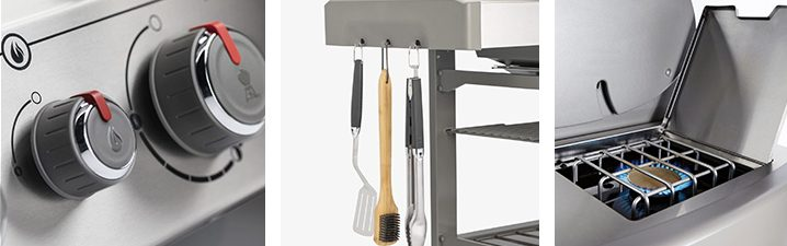 Weber Genesis II E-435 grill knobs, side table and side burner